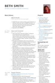 University Resume Samples by Adjunct Faculty Resume Samples Visualcv Resume Samples Database