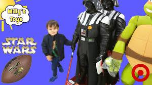 Radio Flyer Turtle Riding Toy Giant Darth Vader Star Wars And Ninja Turtle Kid Throwing