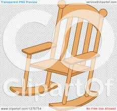 Wooden Chair Clipart Png Clipart Of A Wood Rocking Chair Royalty Free Vector Illustration