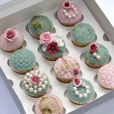 bridal cupcakes blue and brown wedding cupcakes wedding cupcake