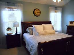 blue master bedroom very realistic for the home style and