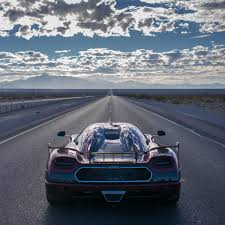 koenigsegg car blue koenigsegg agera rs beats bugatti to become the fastest production