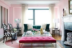 bench living room pink velvet tufted bench contemporary living room vogue