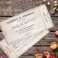vintage bus ticket wedding invitation paper themes wedding invites