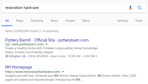 Pottery Barn Official Website Restoration Hardware Shut Down Its Own Google Adwords Campaigns