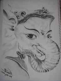 pencil sketches of ganpati face drawing artistic