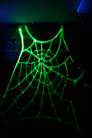 black light spray paint used walmart glow in the dark spray paint to make a giant spiderweb
