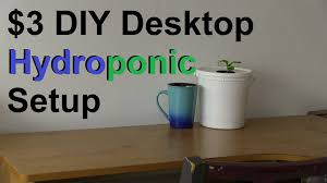 how to make a simple 3 diy desktop hydroponic system youtube
