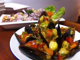 cuisine a la choritos a la chalaca picture of santa ceviche barcelona
