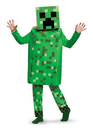 minecraft costumes minecraft creeper deluxe costume for kids