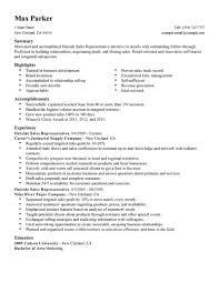 exle of sales resume sales resume sle winkd co