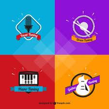 Imagenes Logos Musicales | variety of musical logos vector premium download