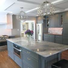 Grey Blue Cabinets White Fantasy Granite With Grey Blue Cabinet Design Not Loving The