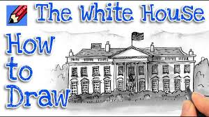 28 easy house drawing simple drawing of house how to draw the white house real easy youtube