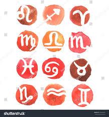 zodiac signs watercolor zodiac signs set stock vector 270340928