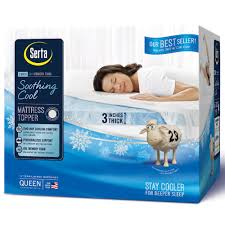 Cool Comfort Mattress Pad Serta Soothingcool 3 Inch Gel Memory Foam Mattress Topper