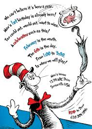 the cat in the hat birthday invitation printable birthdays