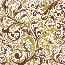 floral swirl vector decoration floral vector