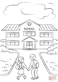boy and going to coloring page free printable
