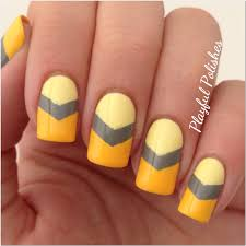 playful polishes 31 day nail art challenge yellow nails