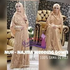 wedding dress syari baju nikah syar i najma wedding gown by nines widosari baju