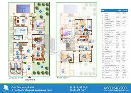 Villa Floor Plans by Floor Plan Of Lailak Golf Gardens
