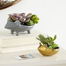 animal planter ceramic animal planters west elm