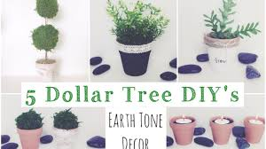 Dollar Tree Decorating Ideas Dollar Tree Diy U0027s 5 Earth Tone Decor Ideas Youtube