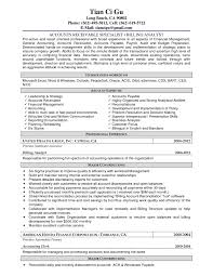 Tax Accountant Resume Sample by Accounts Receivable Duties And Responsibilities Free Resumes Tips