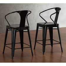 24 Inch Bar Stools With Back Dining Room Classic 24 Inch Counter Stools In Black With Back For