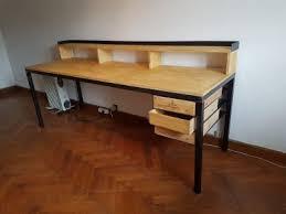bureau bois acier le meuble gascon bureau industriel bois acier gironde langon