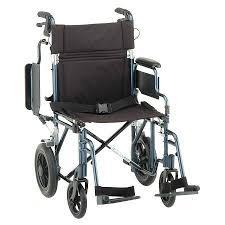 Transport Chairs Lightweight Nova Lightweight 19 Inch Transport Chair 352b Blue Walgreens