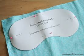 eye mask template diy eye mask