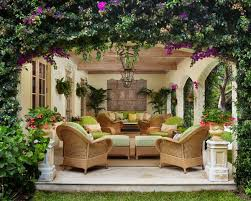 backyard garden patio ideas with outdoor kitchen and lighting