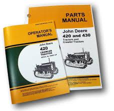 john deere 420 420c crawler tractor dozer operators owners parts
