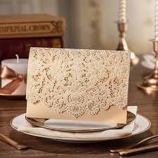 Asian Wedding Invitation Gold Laser Cut Envelope Wedding Invitation Iwsm019 Wedding