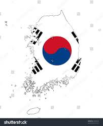 Map Of South Korea Map South Korea Flag Vector Art Stock Vector 22428739 Shutterstock