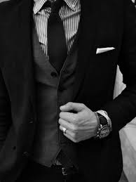 high class suits black and white luxury gentleman class mens fashion