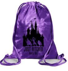 adorable hitchhiking ghosts honeymoon couple disney bags in
