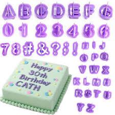 40pcs alphabet number letter fondant cake decorating set icing
