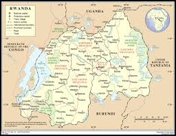 Rwanda Africa Map by Rwanda