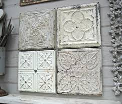 tin home decor ceiling tile salvaged tin ceiling tiles rustic wall decor antique