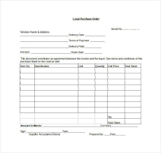 purchase order template doc purchase order template 10 download