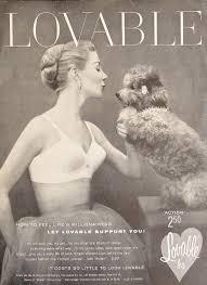 loveable bra vintage magazine ad french poodle lingerie