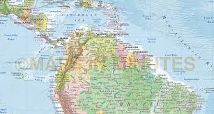 Political Map Of South America by Digital Vector North And South America Political Map 10 000 000