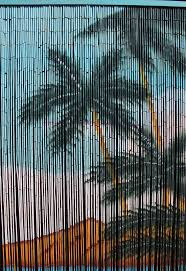 palm tree bead door decoration and ideas