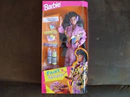 amazon barbie paint u0027n dazzle brunette doll 1993 toys