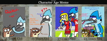 Regular Show Meme - regular show age meme by theyoungerartist19 on deviantart