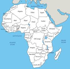 Africa Map Countries by Free Blank Map Of North And South America Latin America World Map