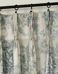 Blue Toile Curtains Hton Toile Pinch Pleat Window Curtain Panel Curtainworks